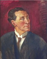 Portrait of Alfred Douglas, 13th Duke of Hamilton (1862-1940), by Augustus John, signed and dated 1916 - click for Scran Resource