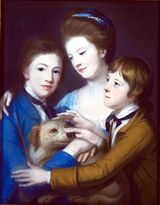 The Children of the 6th Duke of Hamilton, portrait by Catherine Read (1723-1778), in pastel - click for Scran Resource